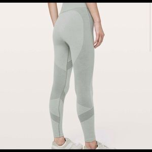 "LLL Aerial Silk Tights 28"" color: Sage Grey"